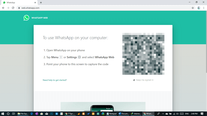 using many different whatsapp web account on the same computer