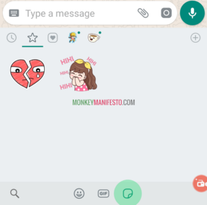 whatsapp sticker how to copy or save