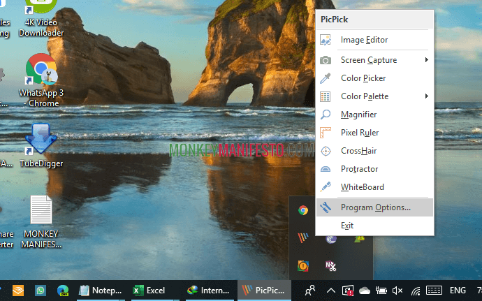 how to change setting on picpick