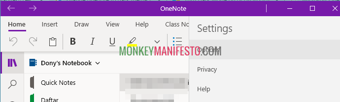 disable spell checker in onenote