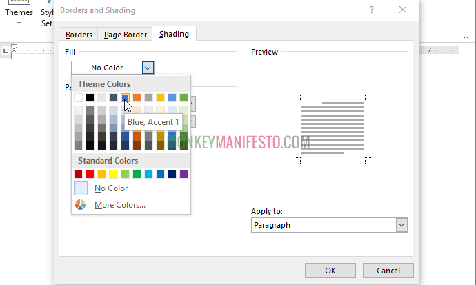 select page color on microsoft word