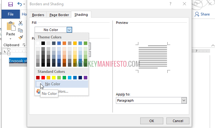 change text background color