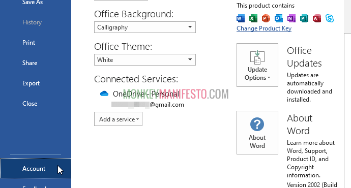 change office theme background