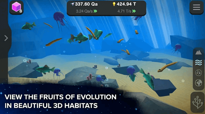 idle game about evolution