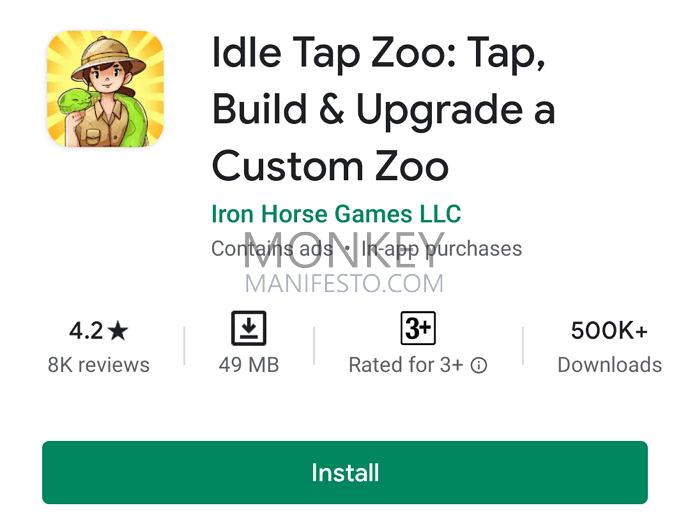 idle tap zoo android
