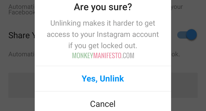 yes unlink