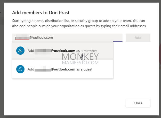 how to invite others in microsoft teams