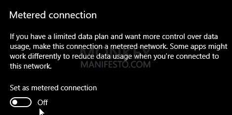 metered connection
