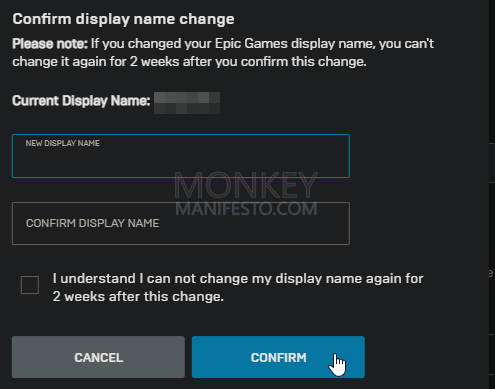 confirm display name change epic games