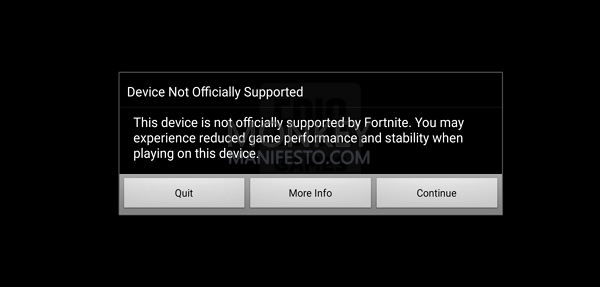 device not officially supported
