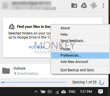 how to remove google drive from windows 10