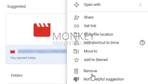 remove a video from google drive